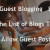 Guest Blogging & The List of Blogs That Allow Guest Posts