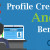 Profile Creation and Its Benefits
